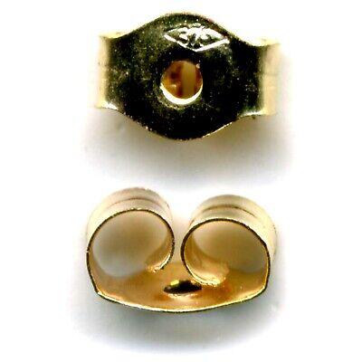 9ct Gelbgold Schmetterling Ohrring Rückseite Scrolls Push Fit Medium 1pr - FS11 ()