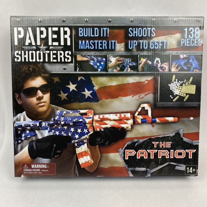 Paper Shooters The Patriot Spitball Blaster Kit - New!