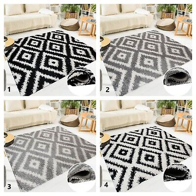 High Trellis (New Shaggy Rug Trellis Pattern Super Soft Touch Contemporary Carpet High Quality)