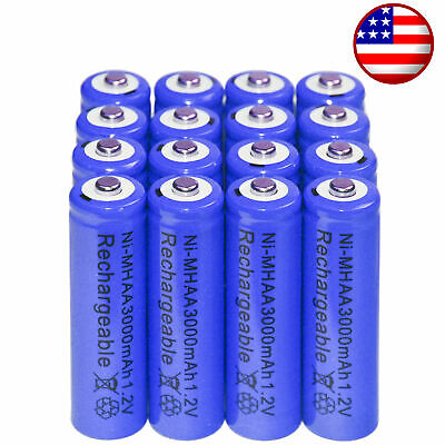16x AA battery batteries Bulk Nickel Hydride Rechargeable NI-MH 3000mAh (Nickel Rechargeable Battery)