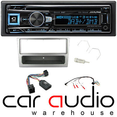Alpine Vauxhall Omega 2000-2003 Bluetooth DAB+ CD AUX Car Stereo Player Silver