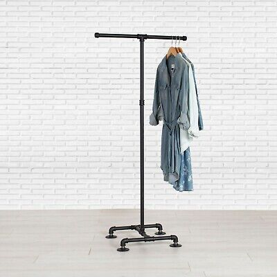 Industrial Pipe Clothing Rack 2-way By William Roberts Vintage