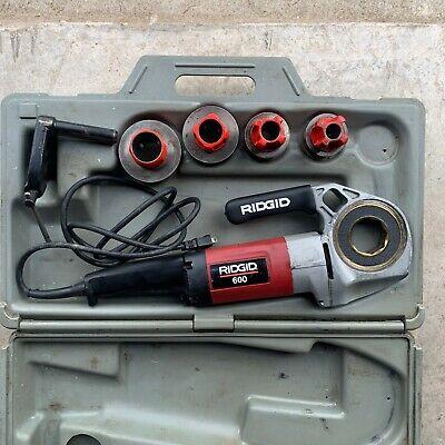 Ridgid 600 Pipe Threader Kit W Case Dies Clamp