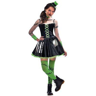 Kids Girls Freaky Frankie Miss Frankenstein Monster Horror Halloween Costume - Female Frankenstein Halloween Costume