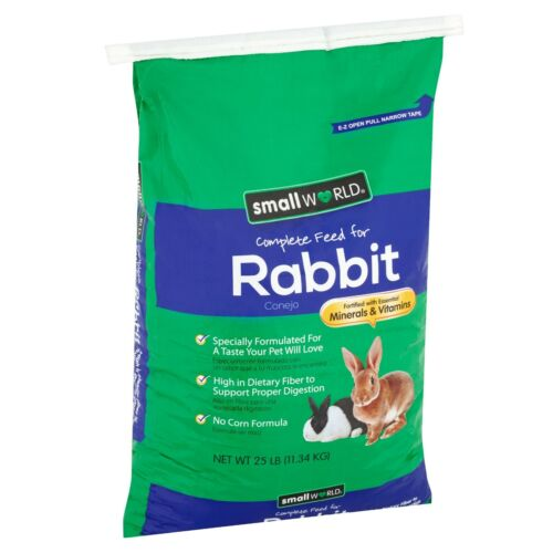Rabbit Complete Feed 25 Lbs Rabbits Bunny Food Guinea Pig Hamster Firm Pellets