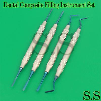 Dental Anterior Periotomes Set Implant Composite Titanium Coated Serrated Tips