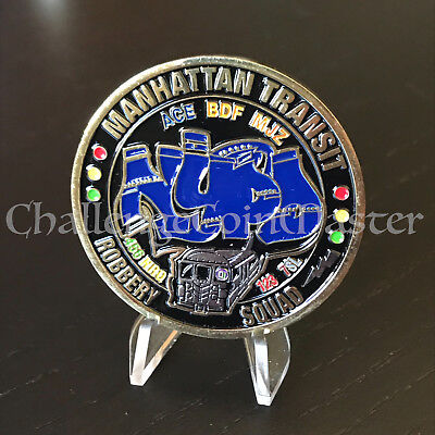 C27 New York Police Manhattan Transit Central Robbery Squad Challenge Coin