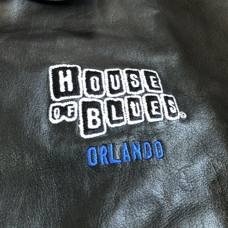 Vintage ROOTS House Of Blues Orlando Black Leather Jacket - Size Youth Large 90s