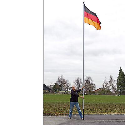 Fahnenmast Flaggenmast Alu Steckbar 6,10m mit Deutschland Fahne 921185