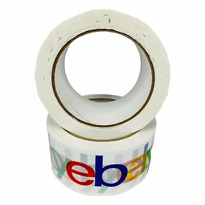 2 Rolls X 75 Yard Ebay Branded Packaging Tape Box Packing Shipping Supplies