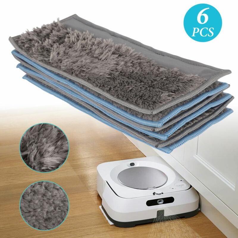 For IRobot Braava Jet M6 Vacuum Cleaner Reusable Wet & Dry Washable Mop Pad 6PCS