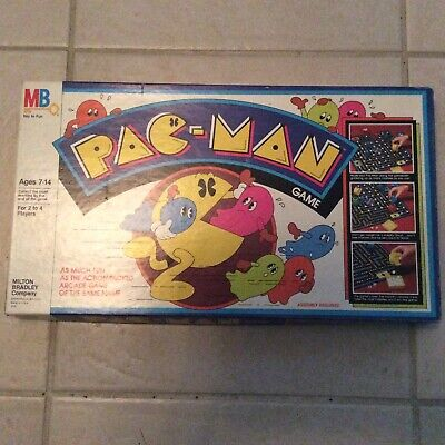 Vintage PAC-MAN Board Game w/ Box 1980 Milton Bradley
