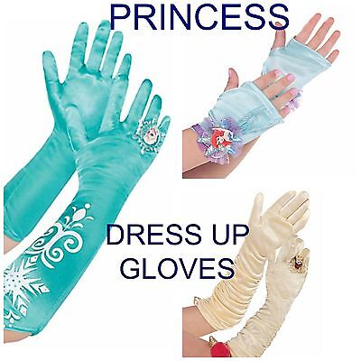 Girl's Dress Up Gloves Disney Princess TV Movie Characters Halloween Costume - Disney Character Dress Up