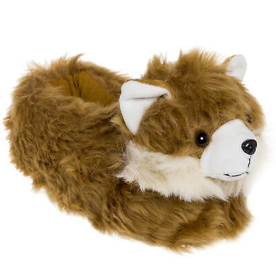 Silver Lilly Pomeranian Dog Novelty Plush Animal Costume Slippers