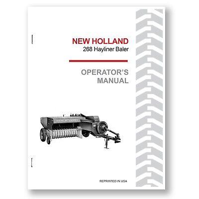 New Holland 268 Baler Hayliner Operators Owners Book Guide Manual Nh