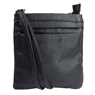 Damentasche Schultertasche Umhängetasche Beutel Freizeit-shopper 3966 Schwarz 3