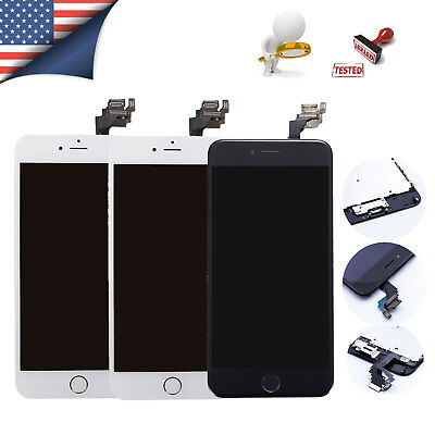 (OEM iPhone 6 Plus Screen Digitizer Replacement lcd Touch with Home Button Camera)