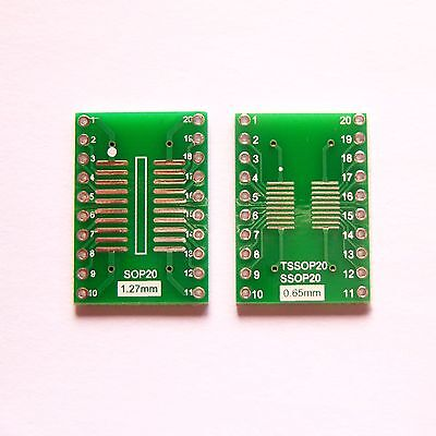 20 Pcs So Sop Soic Ssop Tssop 20 Pin To Dip 20 Adapter Pcb Board Converter B09