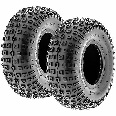 Pair of 2, 145/70-6 145/70x6 Quad ATV All Terrain AT 6 Ply Tires A011 by SunF