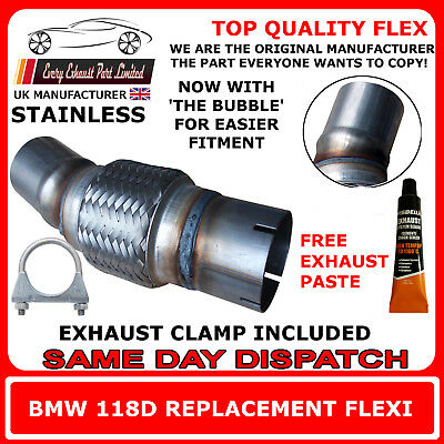 BMW 118D Exhaust Flexi Flex Easy Repair DPF, Cat Pipe, Catalyst Stainless