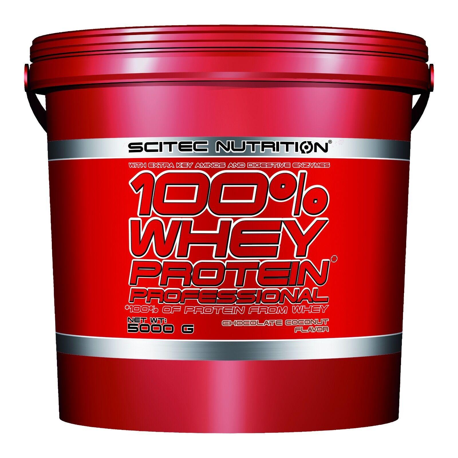 Scitec Nutrition (12,74€/kg) 100% Whey Protein Prof 5000g 5Kg Eiweiss plus BONUS