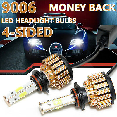 4-Sided Headlight 9006 9012 HB4 LED Bulbs 1250W 228000LM 2018 New Super Bright