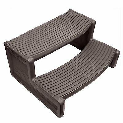Confer Plastics HS2 Dark Gray Resin Handi-Step For Spa and Hot Tubs