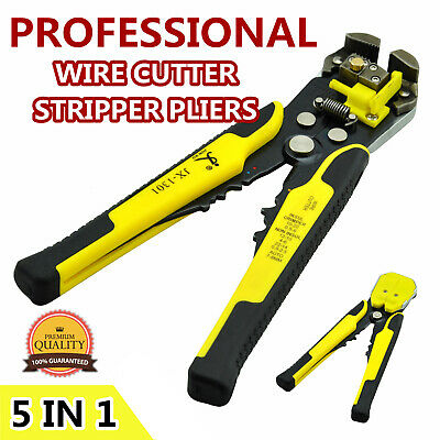 Electric Wire Cutter Crimper Cable Strippers Pliers Self Adjusting Hand Terminal
