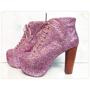 Sparkly Rose Pink Jeffrey Campbell Litas - BRAND NEW