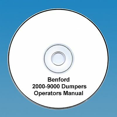 Benford 2000 - 9000 Dumpers - Operators Manual