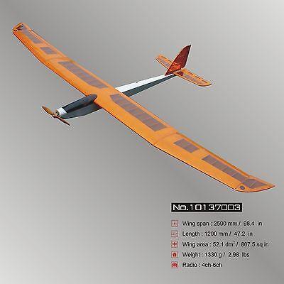 """Glider Big E-Fair (98.4"""") ARF Electric RC Airplane Balsa Wood Model Plane"""