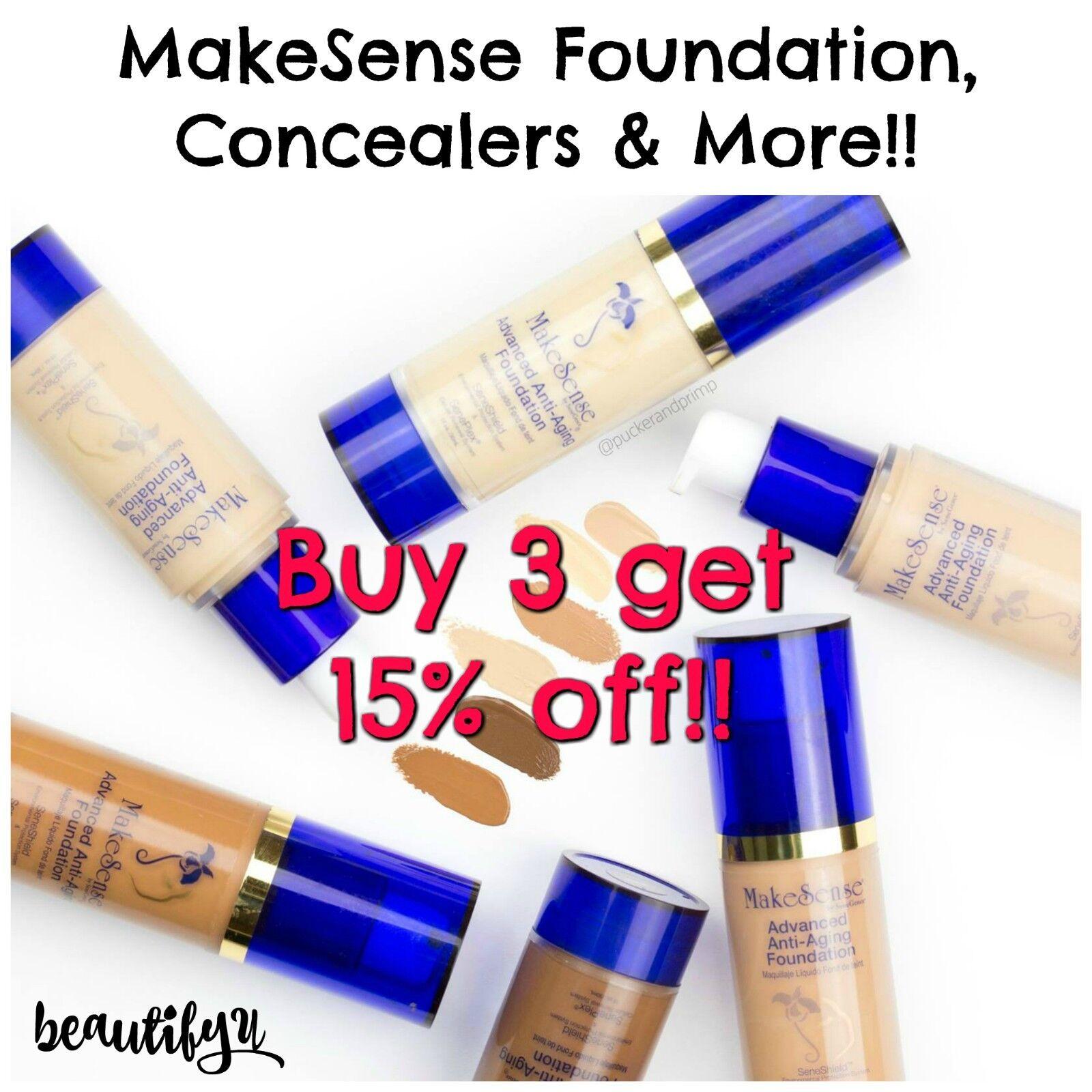 MakeSense Foundation, Pearlizer, Concealers, & Powder! Makeu