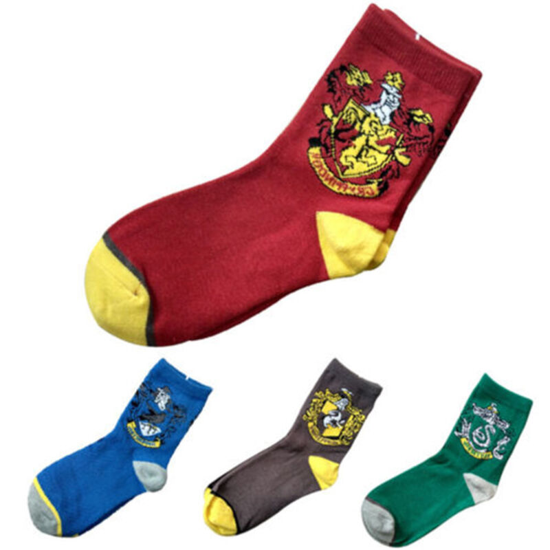 Harry Potter Socken Gryffindor Hufflepuff Slytherin Ravenclaw Socks Cosplay Lang