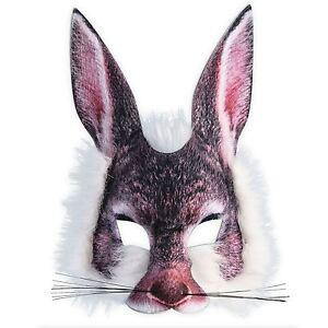 Adult Kids Easter Bugs White Bunny Rabbit Wonderland Fancy Dress Peter Eye Mask