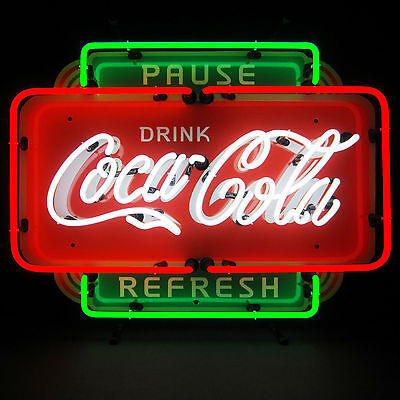 "New Drink Coca Cola restaurant bar style large 19""X 26"" Coke neon sign Free Ship"