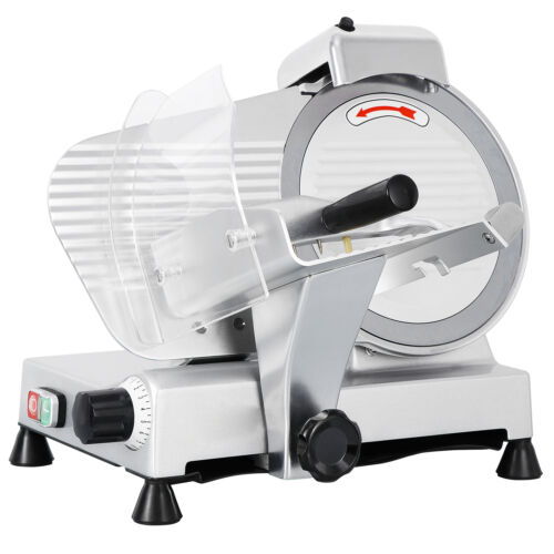 Commercial Electric Meat Slicer 10″ Blade 240w 530 rpm Deli Food cutter Business & Industrial