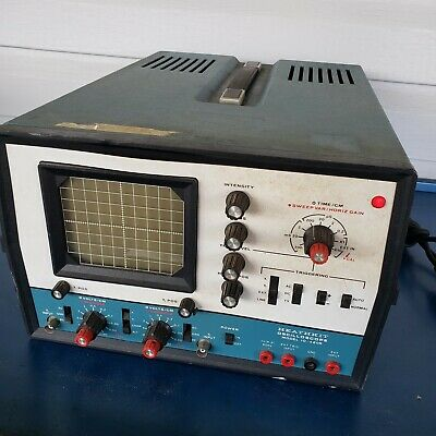 Heathkit 5 Megahertz Dual Trace Oscilloscope Io-4205 Ham Radio Parts Or Repair