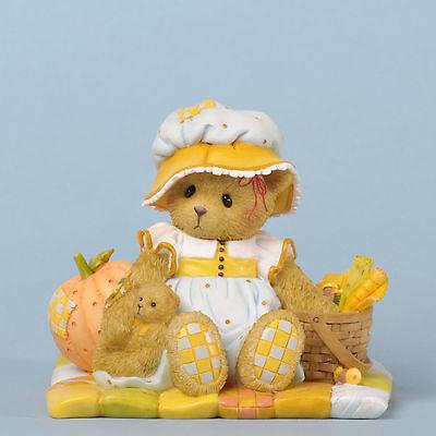 Cherished Teddies Figurine*CUTEST BEAR with PUMPKIN*New*NIB*Fall*JULIE*4035940