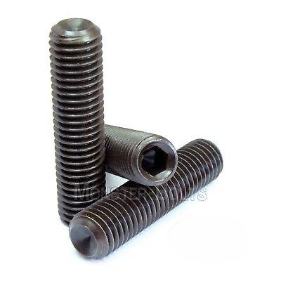 - #8-32 - Cup Point Socket Set Screws Coarse SAE Alloy Steel w Thermal Black Oxide