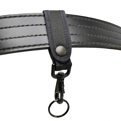 Perfect Fit Nylon Key Strap Belt Keeper Black Hardware Police Firefighter Emt