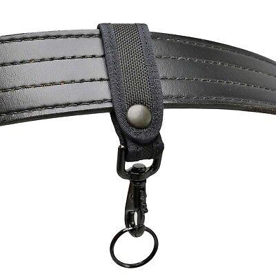 - Perfect Fit Nylon Key Strap Belt Keeper Black Hardware Police Firefighter EMT