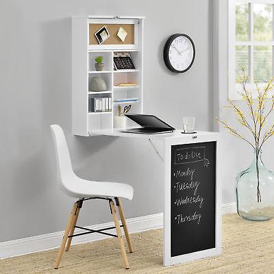 [en.casa] Tavolo da parete bianco Scrivania SCAFFALE PIEGHEVOLE aus-klappbar