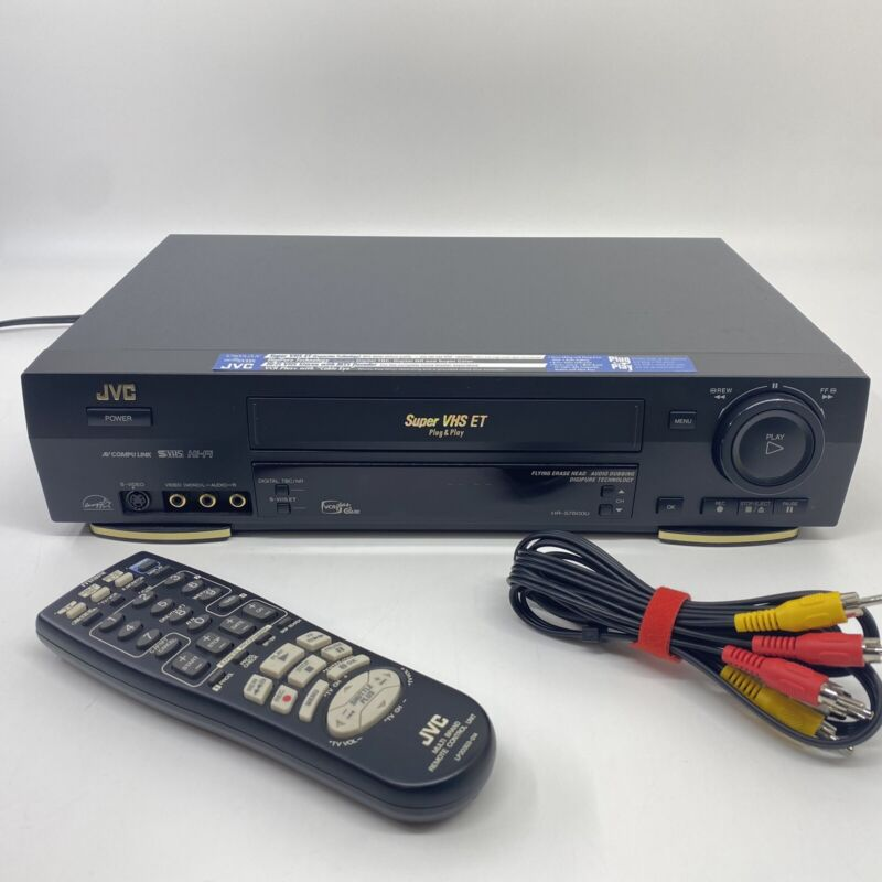 JVC Super VHS ET VCR Player HR-S7800U with Remote Bundle