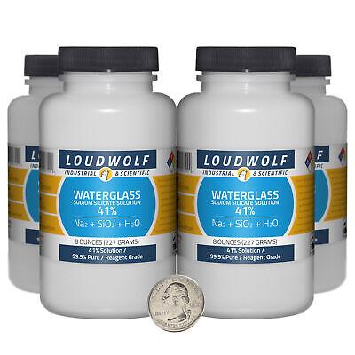 Sodium Silicate 2 Pounds 4 Bottles 99.9 Pure Reagent Grade 41 Solution