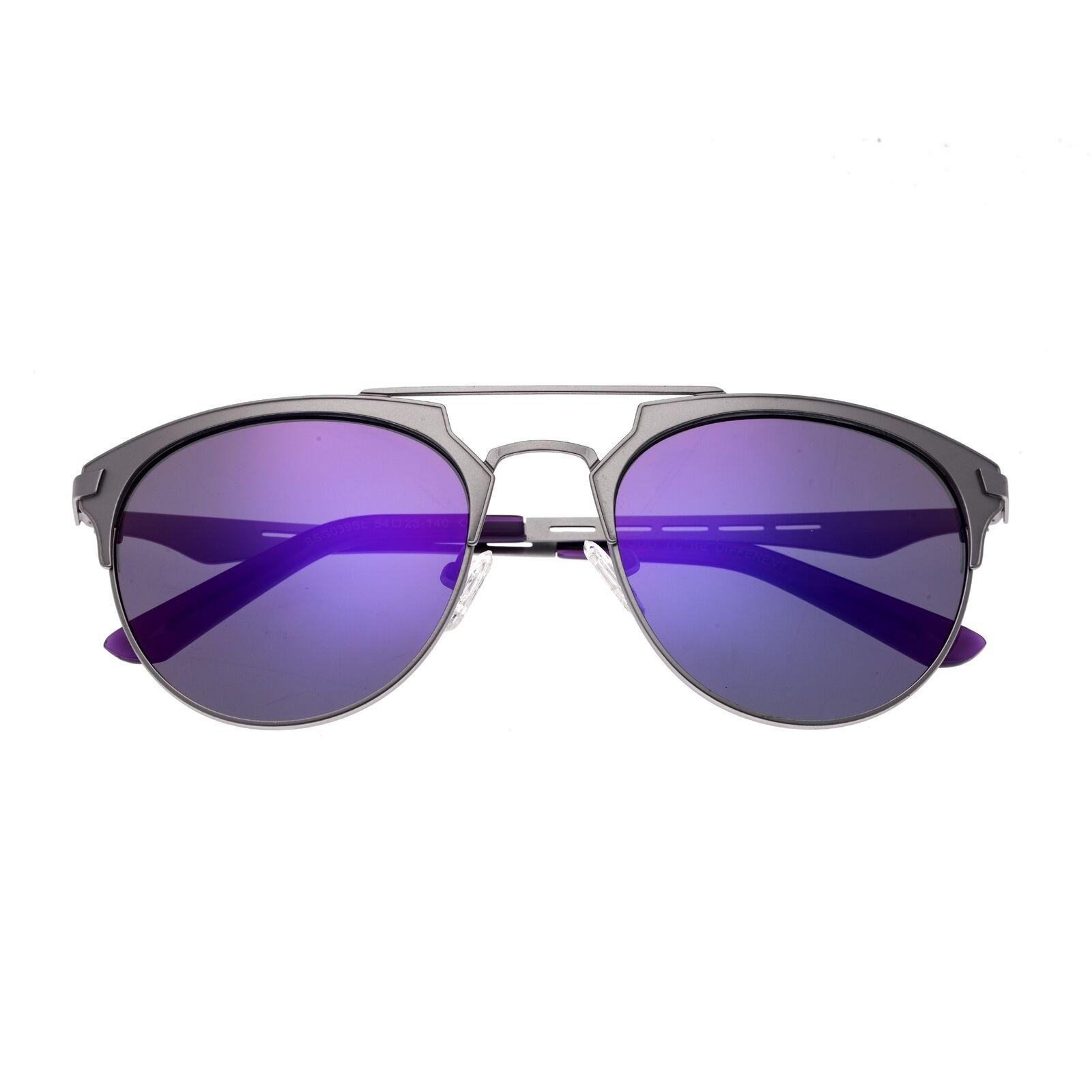 936bcaa0a184 Details about Breed Hercules Silver Titanium Polarized Purple Lens Men's  Sunglasses 039SL