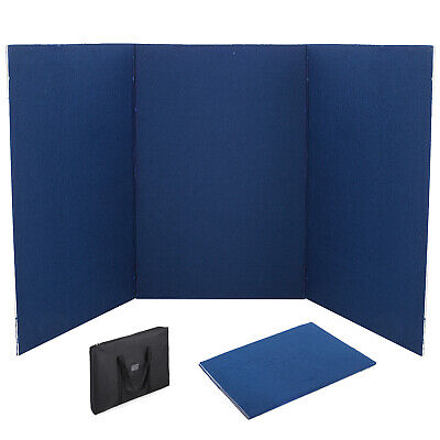 72 X 36 3 Panel Tabletop Display Presentation Board Double Side Tri-fold Pvc