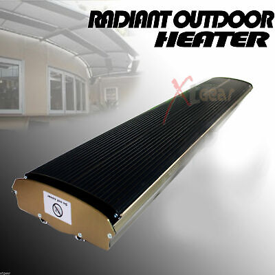 110V Radiant Outdoor Heater For Patio Ceiling Wall Mount Infrared OPENBOX Radiant Outdoor Patio Heater
