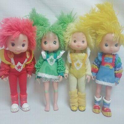 1983 Vintage Hallmark Rainbow Brite DollsVinyl Plastic Figures Lot of 4