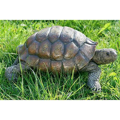 Schildkröte 34cm Deko Objekt Landschildkröte Figur Schildkrötenfigur Kunstharz