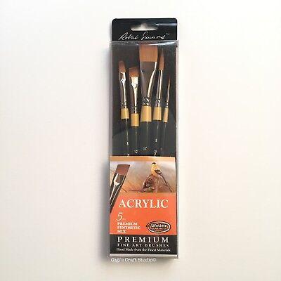 5pcs set Acrylic Daler Rowney FINE ART BRUSHES  Premium Synthetic Mix 286300501  for sale  Shipping to India